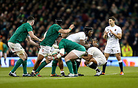 Saturday 2nd February 2019 | Ireland vs England<br /> <br /> Maro Itoje during the opening Guinness 6 Nations clash between Ireland and England at the Aviva Stadium, Lansdowne Road, Dublin, Ireland.  Photo by John Dickson / DICKSONDIGITAL