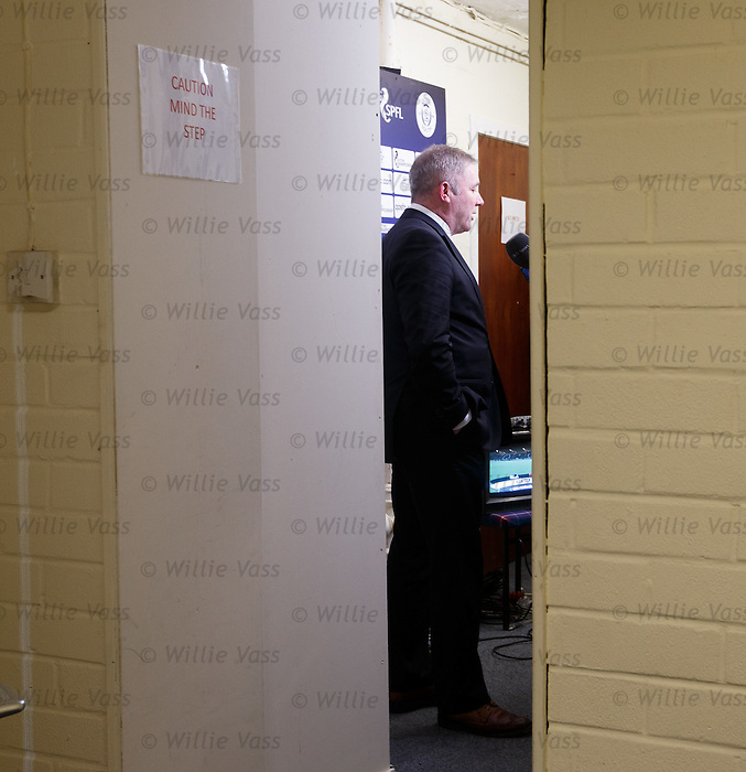Ally McCoist speaking to BT Sport inside Palmerston