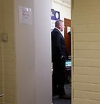 Ally McCoist speaking to BT Sport inside Palmerston