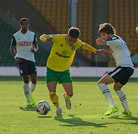 Preston North End's Ben Pearson (right) battles with Norwich City's Max Aarons (left) <br /> <br /> Photographer David Horton/CameraSport<br /> <br /> The EFL Sky Bet Championship - Norwich City v Preston North End - Saturday 19th September 2020 - Carrow Road - Norwich<br /> <br /> World Copyright © 2020 CameraSport. All rights reserved. 43 Linden Ave. Countesthorpe. Leicester. England. LE8 5PG - Tel: +44 (0) 116 277 4147 - admin@camerasport.com - www.camerasport.com