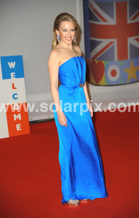 **ALL ROUND PICTURES FROM SOLARPIX.COM**                                             **WORLDWIDE SYNDICATION RIGHTS**                                                                                  Stars arrive at London's O2 Arena for the 2012 Brit Awards..This pic:   Kylie Minogue                                          .JOB REF:    14495   MSR     DATE:   22.02.12                                                         **MUST CREDIT SOLARPIX.COM OR DOUBLE FEE WILL BE CHARGED**                                                                      **MUST AGREE FEE BEFORE ONLINE USAGE**                               **CALL US ON: +34 952 811 768 or LOW RATE FROM UK 0844 617 7637**