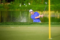 Ryan Palmer (USA) hits from the trap on 14 during round 3 of the Honda Classic, PGA National, Palm Beach Gardens, West Palm Beach, Florida, USA. 2/25/2017.<br /> Picture: Golffile | Ken Murray<br /> <br /> <br /> All photo usage must carry mandatory copyright credit (&copy; Golffile | Ken Murray)