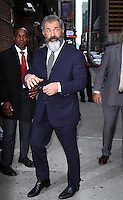 NEW YORK, NY-November 01: Mel Gibson at The Late Show with Stephen Colbert to talk about his new movie Hacksaw Ridge in New York.November 01, 2016. Credit:RW/MediaPunch