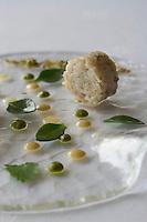 """Europe/France/Bretagne/29/Finistère/Roscoff: Chair d'Araignée de mer parfumée d'épices recette de Jean Yves Crenn du restaurant """"Le Temps de vivre"""""""