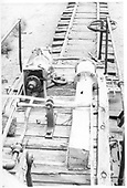 An elevated view of the deck of a D&amp;RGW flanger.<br /> D&amp;RGW