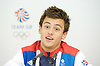 Tom Daley <br /> Bronze medalist in the Men's 10m platform diving <br /> Olympic Games London 2012<br /> Team GB Press Conference at Team GB House, London, Great Britain <br /> 12th August 2012 <br /> <br /> <br /> Tom Daley <br /> <br /> <br /> Photograph by Elliott Franks