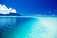 A view of scenic Kaneohe Bay with it's warm, blue waters and inviting sand bars. Located on the windward side of Oahu.