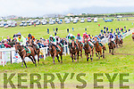 The Christina Geaney Memorial Race under way at the Dingle Races in Ballintaggart race course on Sunday afternoon.