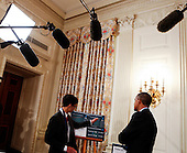 United States President Barack Obama listens to Sahil Doshi, 14 years old from Pittsburgh, Pennsylvania, who designed an innovative carbon-dioxide powered battery to reduce the environmental effects of pollution during the 2015 White House Science Fair, at the White House in Washington, DC on March 23, 2015. The White House Science Fair is a celebration of students winners of STEM (Science, technology, engineering and math) competitions from across the country on March 23, 2015, in Washington, DC.<br /> Credit: Aude Guerrucci / Pool via CNP