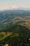 Aerial View of Hood River Landscape, Oregon