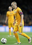 FC Barcelona's Andres Iniesta during Champions League 2015/2016 match. April 5,2016. (ALTERPHOTOS/Acero)