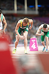 Australia's Brad Scott receives his bronze medal for the Men's T37 800m at the London Paralympic Games Athletics 1.9.12