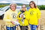 Joyce Bowerman, Liz Brown and Jennifer Mullane from Sera Huskey with their newest puppy at the Kilflynn Vintage Rally on Sunday