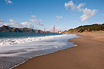 Baker Beach, Golden Gate Bridge, San Francisco, California, USA.  Photo copyright Lee Foster.  Photo # california108617