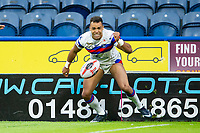 Picture by Allan McKenzie/SWpix.com - 11/05/2018 - Rugby League - Ladbrokes Challenge Cup - Huddersfield Giants v Wakefield Trinity - John Smith's Stadium, Huddersfield, England - Wakefield's Mason Caton-Brown celebrates his try against Wakefield.