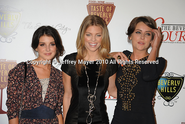 BEVERLY HILLS, CA. - September 02: Shenae Grimes, AnnaLynne McCord and Jessica Stroup  arrive at The Taste of Beverly Hills wine & food festival opening night at the Beverly Hilton Hotel on September 2, 2010 in Beverly Hills, California.