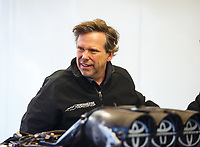 Feb 25, 2018; Chandler, AZ, USA; NHRA funny car driver Del Worsham during the Arizona Nationals at Wild Horse Pass Motorsports Park. Mandatory Credit: Mark J. Rebilas-USA TODAY Sports