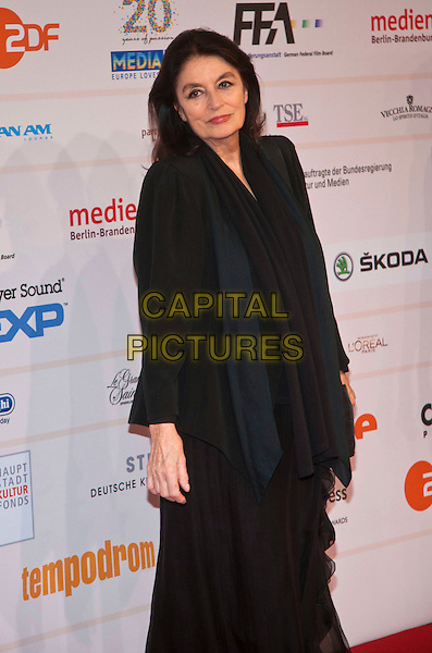 ANOUK AIMEE  .The 24th European Film Awards 2011 at Tempodrom, Berlin, Germany. .December 3rd, 2011.full length half 3/4 length black dress.CAP/PPG/NK.©Norbert Kesten/People Picture/Capital Pictures