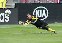 July 20, 2013: Columbus Crew goalkeeper Andy Gruenebaum #30 during the warm-up in a game between Toronto FC and the Columbus Crew at BMO Field in Toronto, Ontario Canada.<br /> Toronto FC won 2-1.