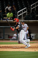 Chattanooga Lookouts Narciso Crook (4) at bat during a Southern League game against the Birmingham Barons on May 1, 2019 at Regions Field in Birmingham, Alabama.  Chattanooga defeated Birmingham 5-0.  (Mike Janes/Four Seam Images)