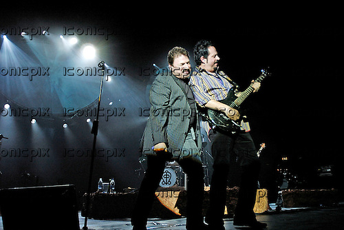 TOTO - vocalist Bobby Kimball and guitarist Steve Lukather performing live at the Apollo Hammersmith, London UK - 25 Feb 2006.  Photo credit: George Chin/IconicPix