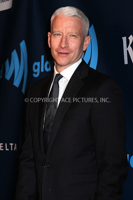 WWW.ACEPIXS.COM....March 16 2013, New York City....Anderson Cooper arriving at the 24th annual GLAAD Media awards at The New York Marriott Marquis on March 16, 2013 in New York City.....By Line: Nancy Rivera/ACE Pictures......ACE Pictures, Inc...tel: 646 769 0430..Email: info@acepixs.com..www.acepixs.com