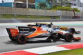 1st October 2017, Sepang, Malaysia;  FIA Formula One World Championship, Grand Prix of Malaysia, 14 Fernando Alonso (ESP, McLaren Honda), 27 Nico Hulkenberg (GER, Renault F1 Team)
