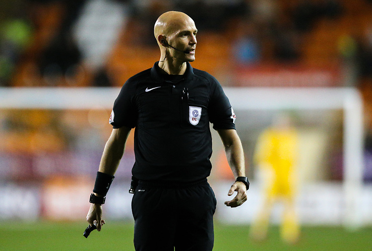 Referee Darren Drysdale<br /> <br /> Photographer Alex Dodd/CameraSport<br /> <br /> The EFL Sky Bet League One - Blackpool v Gillingham - Tuesday 21st November 2017 - Bloomfield Road - Blackpool<br /> <br /> World Copyright &copy; 2017 CameraSport. All rights reserved. 43 Linden Ave. Countesthorpe. Leicester. England. LE8 5PG - Tel: +44 (0) 116 277 4147 - admin@camerasport.com - www.camerasport.com