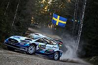13th February 2020, Torsby base and Karlstad, Värmland County, Sweden; WRC Rally of Sweden, Shakedown event;  Teemu Suninen (FIN) - Jarmo Lehtinen (FIN) - Ford Fiesta WRC