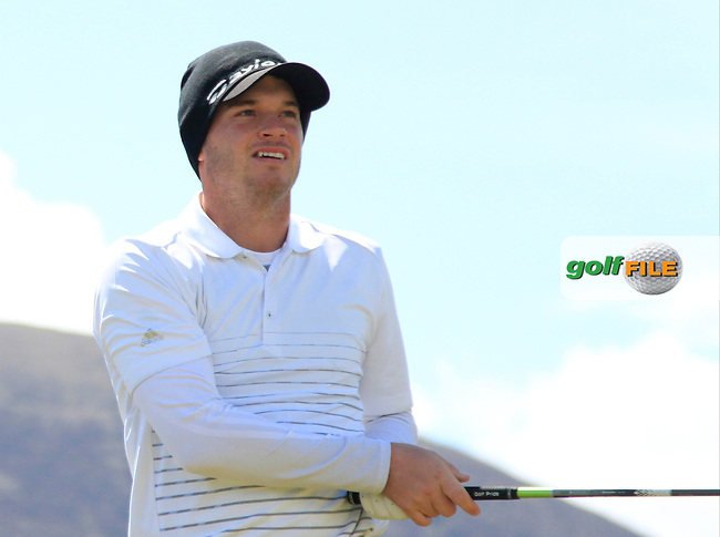 Sam Hutsby (ENG) on the 11th tee during Round 1 of the 2015 Dubai Duty Free Irish Open, Royal County Down Golf Club, Newcastle Co Down, Northern Ireland. 28/05/2015<br /> Picture Thos Caffrey, www.golffile.ie