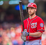15 September 2013: Washington Nationals outfielder Corey Brown steps up to the plate against the Philadelphia Phillies at Nationals Park in Washington, DC. The Nationals took the rubber match of their 3-game series 11-2 to keep their wildcard postseason hopes alive. Mandatory Credit: Ed Wolfstein Photo *** RAW (NEF) Image File Available ***
