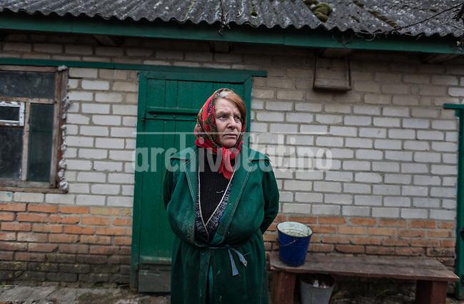 Civilians in the small town of Pologiy, Zet Región in Poltava, at the edge of the war zone in eastern Ukraine, where pro Russian groups fight Ukranian army