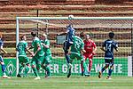 11.01.2019, Bidvest Stadion, Braampark, Johannesburg, RSA, FSP, SV Werder Bremen (GER) vs Bidvest Wits FC (ZA)<br /> <br /> im Bild / picture shows <br /> Denis Weidlich (Bidvest Wits FC #05) mit Kopfball vor Jiri Pavlenka (Werder Bremen #01), Sebastian Langkamp (Werder Bremen #15), Daylon Kayton Claasen (Bidvest Wits FC #14), <br /> <br /> Foto © nordphoto / Ewert