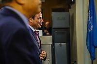 NOVA YORK, EUA, 24.09.2019 - ONU-EUA - Presidente egípcio Abdel Fattah Al Sisi durante da 74ª Assembleia Geral da Organização das Nações Unidas (ONU) em Nova York nos Estados Unidos nesta terça-feira, 24. (Foto: Vanessa Carvalho/Brazil Photo Press)