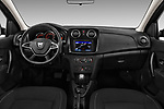 Stock photo of straight dashboard view of 2017 Dacia Logan-MCV Laureate 5 Door Wagon Dashboard