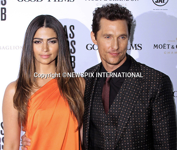 MATTHEW MCCONAUGHEY AND WIFE CAMILA ALVES<br /> at the Premiere of 'Dallas Buyers Club', Rome_28/1/2014.<br /> Camila donned a sari for the event.<br /> Mandatory Credit Photo: &copy;Scavolini/NEWSPIX INTERNATIONAL<br /> <br /> **ALL FEES PAYABLE TO: &quot;NEWSPIX INTERNATIONAL&quot;**<br /> <br /> IMMEDIATE CONFIRMATION OF USAGE REQUIRED:<br /> Newspix International, 31 Chinnery Hill, Bishop's Stortford, ENGLAND CM23 3PS<br /> Tel:+441279 324672  ; Fax: +441279656877<br /> Mobile:  07775681153<br /> e-mail: info@newspixinternational.co.uk