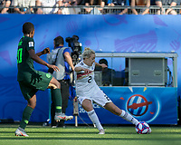 GRENOBLE, FRANCE - JUNE 22: Carolin Simon #2 crosses the ball during a game between Nigeria and Germany at Stade des Alpes on June 22, 2019 in Grenoble, France.