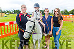 Brenda Brennan, Eden Harty (On the horse), Denise Shanahan and Jennifer McLoughlinat the Abbeydorney Vintage Family fun day on Sunday.