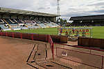 The view from in front of the main stand during a Scottish League First Division match at Dens Park stadium between Dundee and visitors Greenock Morton. The visitors won by one goal to nil watched by a crowd of 4,096. Dundee  stadium was situated on the same street as their city rival Dundee United, whose Tannadice Park ground was situated a few hundred yards away.