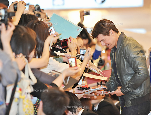 Tom Cruise, May 06, 2013 : Tokyo, Japan : Actor Tom Cruise arrives at Tokyo International Airport in Japan, on May 6, 2013. (Photo by AFLO)