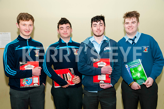 St. Michael's College,, Lisytowel leaving cert students Rhys Quilter, Shawn Carey, Sean Broderick having completed the first exam of the Leaving Cert Exam.