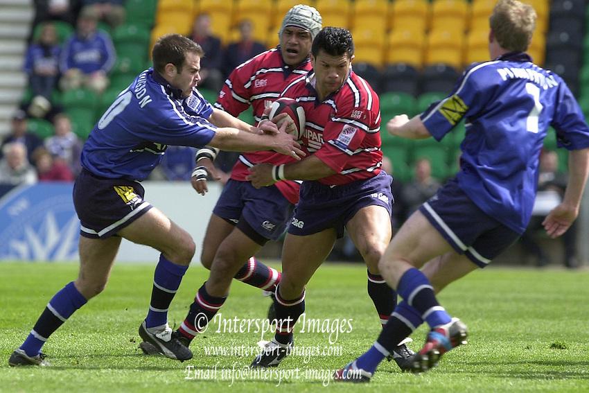 Sport - Rugby 28/04/2002 Parker Pen Shield - Semi-Final.Gloucester vs Sale - Franklin Gardens - Northampton.Robert Todd moves away wiht the ball..[Mandatory Credit, Peter Spurier/ Intersport Images].