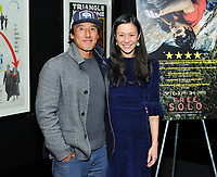 "NEW YORK - DECEMBER 5: L-R: Climber/director Jimmy Chin and director E. Chai Vasarhelyi attend a screening of National Geographic Documentary Films ""Free Solo"" at the Walter Reade Theater on December 5, 2018 in New York City. (Photo by Stephen Smith/National Geographic/PictureGroup)"