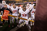 Wisconsin Badgers linebacker Leon Jacobs (32) celebrates with the Paul Bunyan Axe after an NCAA College Big Ten Conference football game against the Minnesota Golden Gophers Saturday, November 25, 2017, in Minneapolis, Minnesota. The Badgers won 31-0. (Photo by David Stluka)