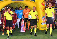 IBAGUÉ-COLOMBIA , 25 -11-2018 . Luis Sánchez González referee central entre los equipos Deportes Tolima y el Independiente Medellín.Acción de juego entre los equipos Deportes Tolima y el Independiente Medellín  durante partido por la semifinal vuelta  de la Liga Águila II 2018 jugado en el estadio Manuel Murillo Toro de la ciudad de Ibagué./ Central Referee Luis Sanchez Gonzalez .Action game between teams  Deportes Tolima and  Independiente Medellin during the second match for the semifinal round of Liga Aguila II 2018 played at the Manuel Murillo Toro stadium in the city of Ibague. Photo: VizzorImage/ Juan Carlos Escobar / Contribuidor