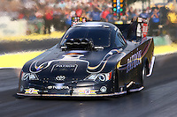Aug. 1, 2014; Kent, WA, USA; NHRA funny car driver Alexis DeJoria during qualifying for the Northwest Nationals at Pacific Raceways. Mandatory Credit: Mark J. Rebilas-