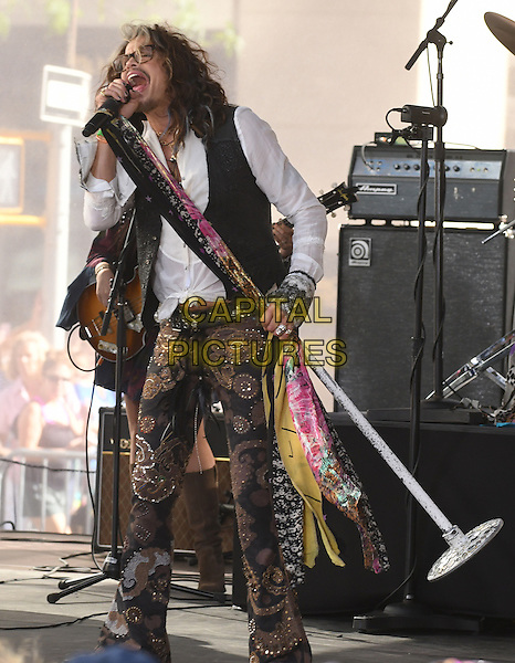 New York,NY-June 24: Steven Tyler performs on NBC's 'Today' at Rockefeller Plaza on June 24, 2016 in New York City. <br /> CAP/MPI/JP<br /> &copy;JP/MPI/Capital Pictures