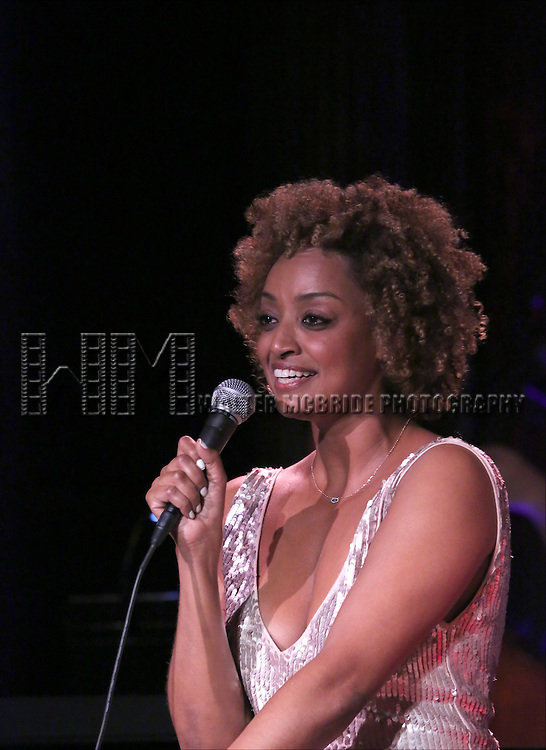 Asmeret Ghebremichael performing at The Lilly Awards Broadway Cabaret at the Cutting Room on October 17, 2016 in New York City.