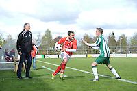 VOETBAL: JOURE: 30-04-2016, SC Joure - SV Mulier, uitslag 2-1, trainer Marco Vlap (SV Mulier), ©foto Martin de Jong