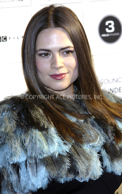 WWW.ACEPIXS.COM . . . . .  ..... . . . . US SALES ONLY . . . . .....December 6 2009, London....Hayley Atwell at The British Independent Film Awards at The Brewery on December 6 2009 in London....Please byline: FAMOUS-ACE PICTURES... . . . .  ....Ace Pictures, Inc:  ..tel: (212) 243 8787 or (646) 769 0430..e-mail: info@acepixs.com..web: http://www.acepixs.com